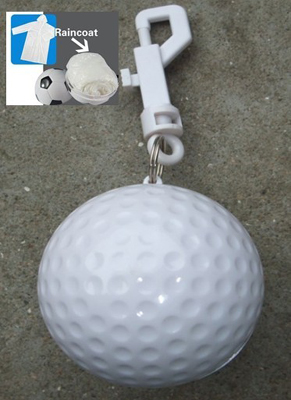 golf ball shape rain poncho