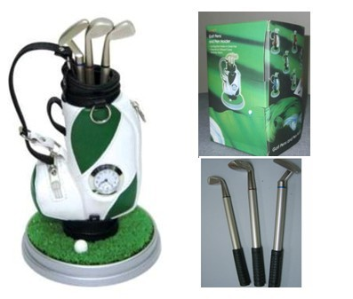 Clock Golf bag pen holder